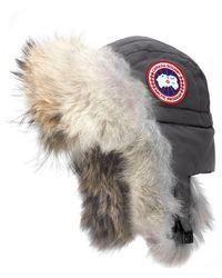 Canada Goose Aviator Hat With Genuine Coyote Fur Trim - Multicolour