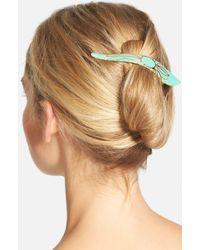 Ficcare 'maximus Lotus' Hair Clip - Green