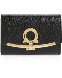 Ferragamo - Icona Ganchio Leather Key Case - - Lyst