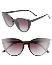 BP. Flat Front 60mm Cat Eye Sunglasses - Black