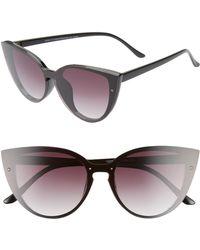 BP. Flat Front Cat Eye Sunglasses - Black