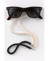 Corinne Mccormack 'pearls' Eyewear Chain - Black