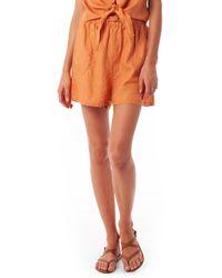 Rhythm Amalfi Linen Shorts - Orange