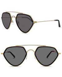 03aac17595a Lyst - Smoke X Mirrors Volunteers Square Metal-bridge Sunglasses in ...