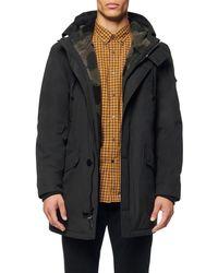 Marc New York Linstead Water Resistant Fleece Lined Parka - Black