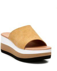 Matisse - Platform Wedge Slide Sandal - Lyst