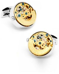 Ox and Bull Trading Co. Watch Movement Cuff Links - Metallic