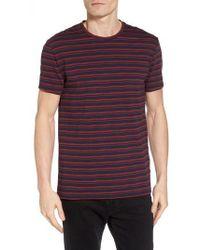 Ben Sherman - Distorted Stripe T-shirt - Lyst