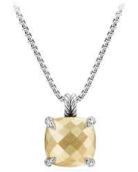 David Yurman Châtelaine Pendant Necklace With 18k Gold And Diamonds - Metallic