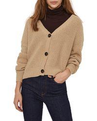 Vero Moda V-neck Cardigan - Natural