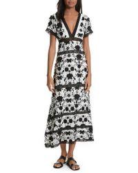 Joie - Fusca Floral Print Maxi Dress - Lyst