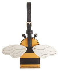 Kate Spade - Picnic Perfect Bee Stripe Leather Bag Charm - Lyst
