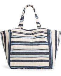 Mercado Global Blanca Woven Tote - - Blue
