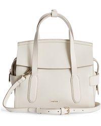 Reiss Sophie Leather Crossbody Bag - White