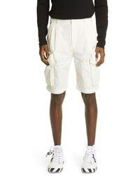 Off-White c/o Virgil Abloh Logo Cargo Shorts - White