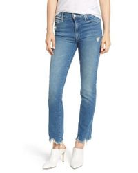 Mother - The Rascal Ankle Chew Straight Leg Jeans - Lyst