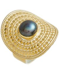 Anna Beck - Genuine Blue Pearl Shield Ring - Lyst