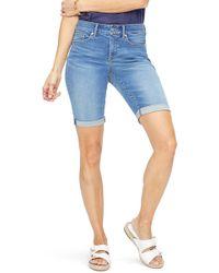 NYDJ - Briella Rolled Denim Bermuda Shorts - Lyst