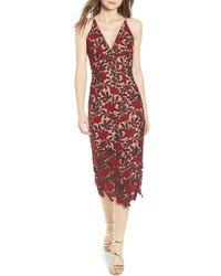 Dress the Population - Aurora Embroidered Sheath Dress - Lyst
