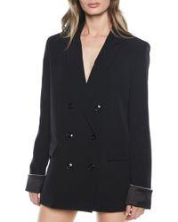 Bardot Sienna Double Breasted Jacket - Blue