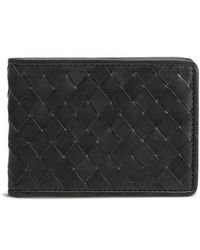Trask - Woven Leather Wallet - - Lyst