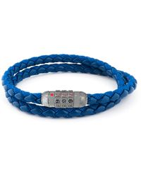 Tateossian Combo Scoubidou Bracelet - Blue