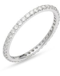 Bony Levy Bardot Diamond Eternity Ring (nordstrom Exclusive) - Metallic