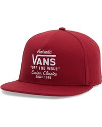46e38b80c46 Lyst - Vans Crofton Snapback Baseball Cap in Pink for Men