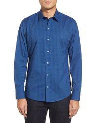 Zachary Prell - Harper Slim Fit Tile Print Sport Shirt - Lyst
