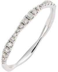 Bony Levy Aviva Diamond Stacking Ring (nordstrom Exclusive) - Metallic