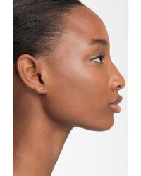 Zoe Chicco Diamond Circle Stud Earrings - Metallic