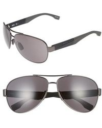 BOSS - 65mm Aviator Sunglasses - - Lyst