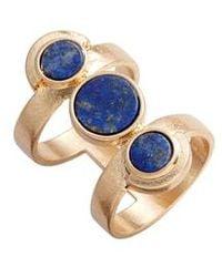 Danielle Nicole Lapis Double Ring - Blue