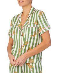 Room Service Notch Collar Top - Green