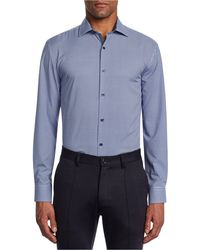 W.r.k. - Trim Fit Stretch Plaid Performance Dress Shirt - Lyst