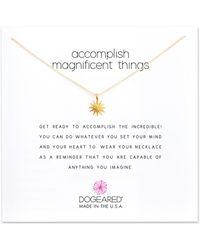 Dogeared - Starburst Pendant Necklace - Lyst