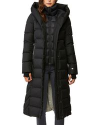 SOIA & KYO Talyse Long Quilted Parka - Black