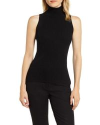 Anne Klein - Ribbed Turtleneck Shell - Lyst