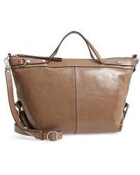 Treasure & Bond - Perry Glazed Leather Convertible Satchel - Lyst