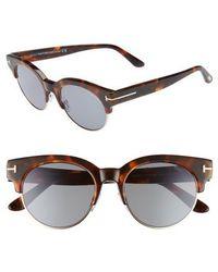 Tom Ford Henri 52mm Semi-rimless Sunglasses - Havana/ Rose Gold/ Blue