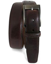 Boconi - 'collins' Leather Belt - Lyst