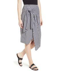 Soprano - Gingham Tie Waist Skirt - Lyst