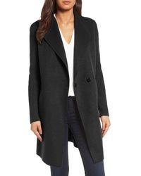 Kenneth Cole Double Face Coat - Black