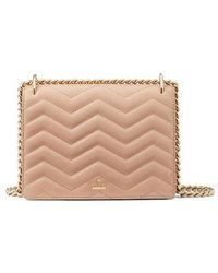Kate Spade - Reese Park - Marci Quilted Leather Shoulder Bag - Coral - Lyst