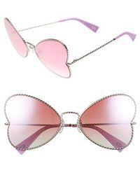 Marc Jacobs - 60mm Heart Sunglasses - Lyst