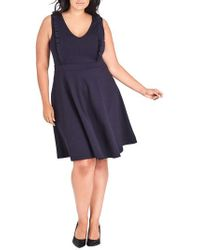 City Chic - Sweet Ruffle Fit & Flare Dress - Lyst