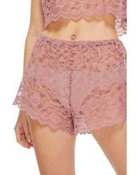 TOPSHOP | Scallop Lace Shorts | Lyst