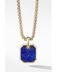 David Yurman Gold Roman Amulet Enhancer - Metallic