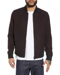 Native Youth - Textured Bomber Jacket - Lyst