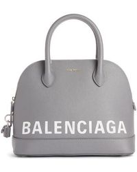 Balenciaga - Ville Logo Leather Dome Satchel - - Lyst